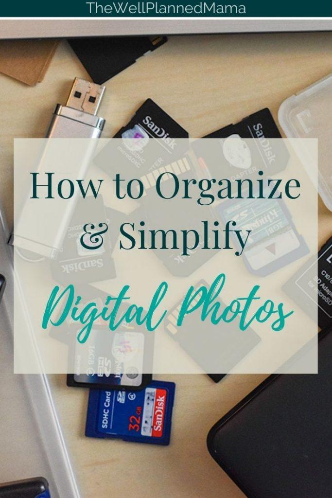 Advice on how to organize digital photos.