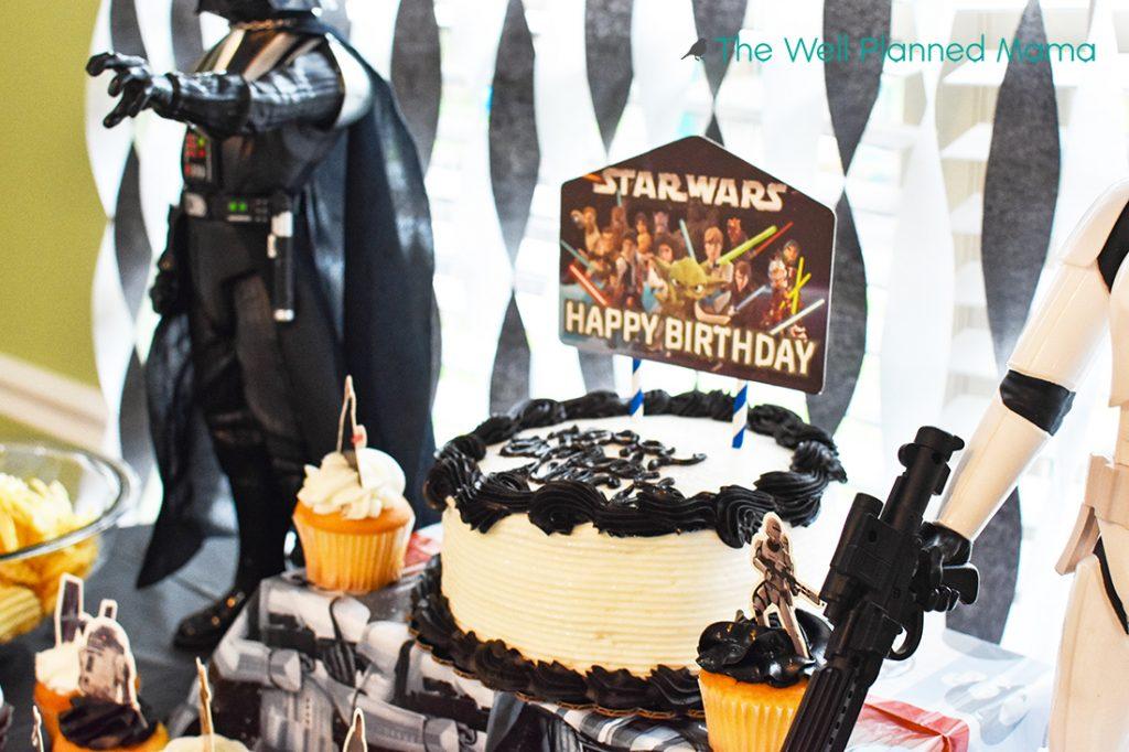 Star Wars decorated birthday cake