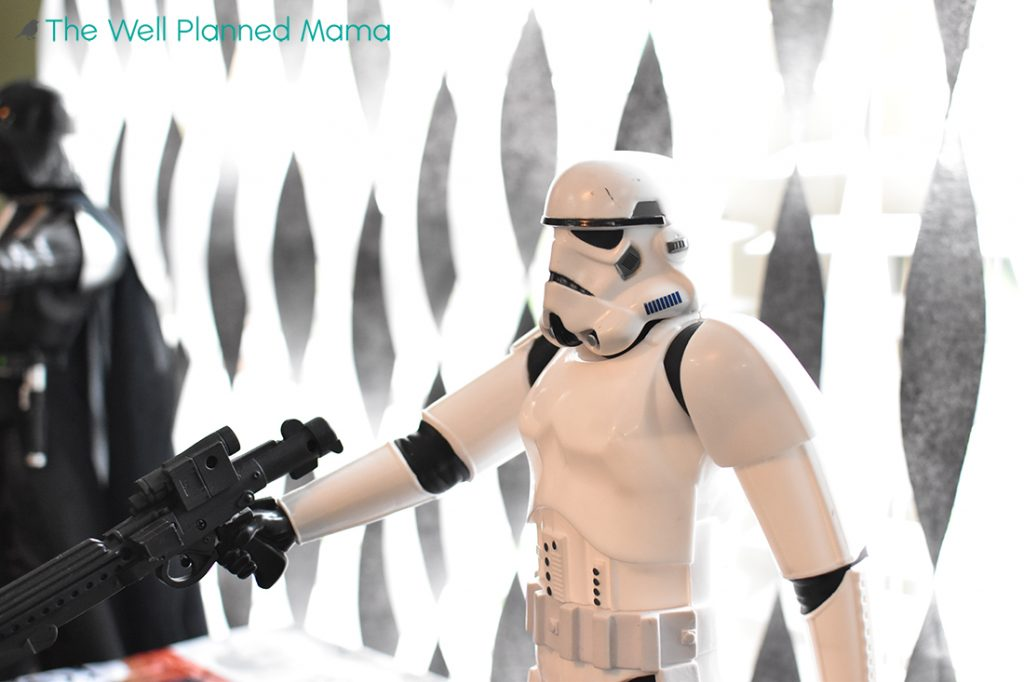 Storm trooper for star wars birthday party