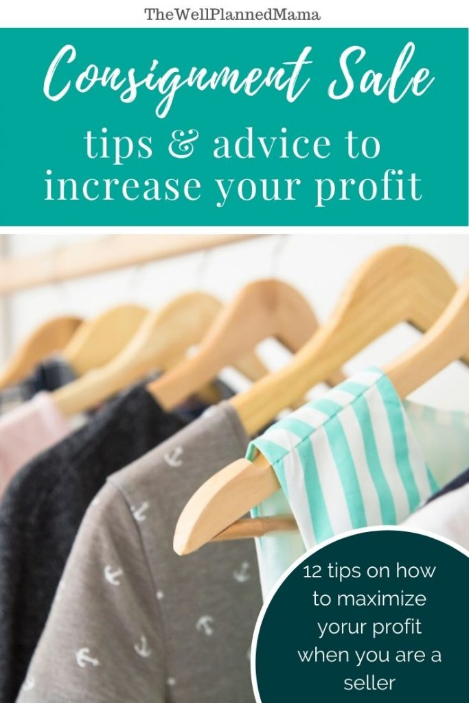 Tips for selling in a consignment sale