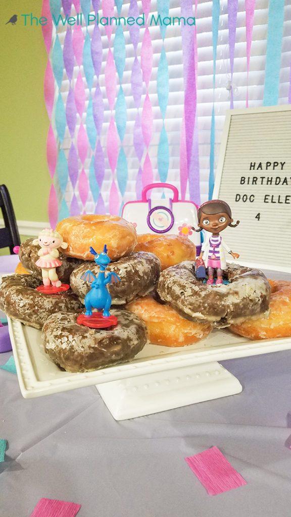 Birthday morning donuts