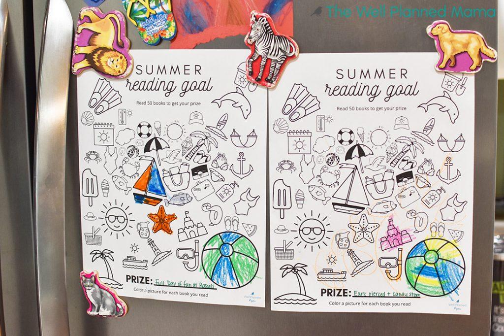 Summer Themed Reading Tracker for summer reading