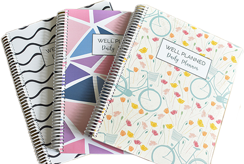 3 covers of the Well Planned Daily Planner