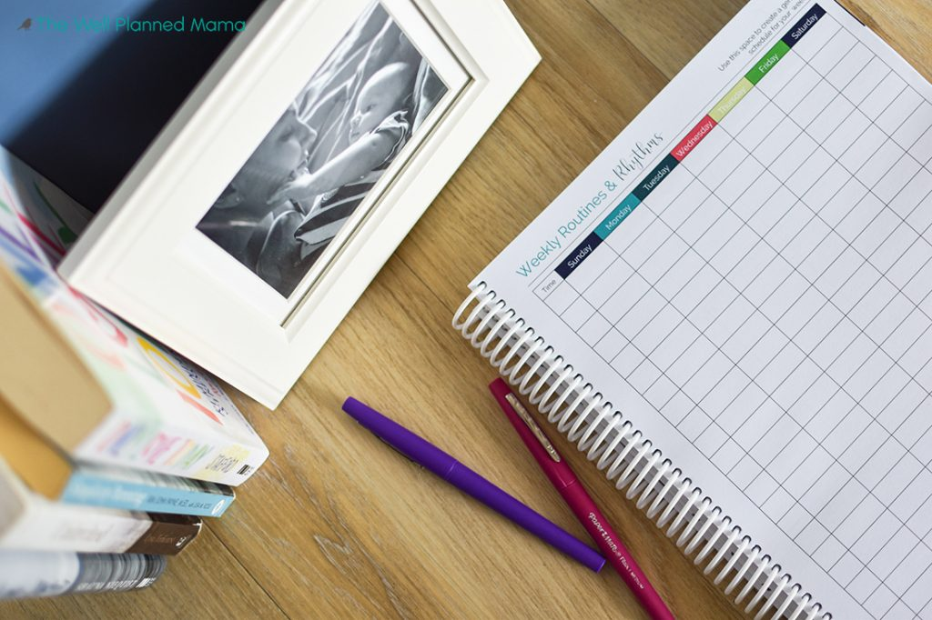 Routine creation worksheet of well planned daily planner.